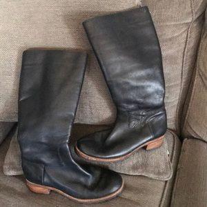 UGG Australia Black Leather Boots
